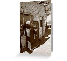 Route 66 - Rusty Coke Machine Greeting Card