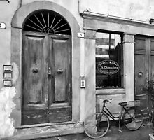 -Le Chiacchere Snackbar - Lucca,  Italy(b&w) by T.J. Martin