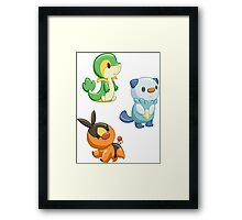 Pokemon Starters - Gen 5 Framed Print