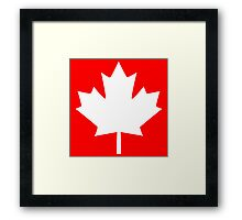 Canada Maple Leaf Flag Emblem Framed Print