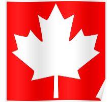 Canada Maple Leaf Flag Emblem Poster