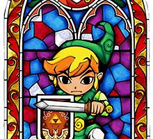 LoZ Shield Stained Glass by CutieFruity