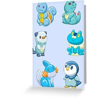 Pokemon Starters - Water Types Greeting Card