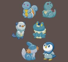 Pokemon Starters - Water Types Kids Clothes