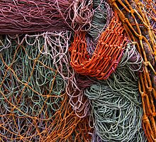 Discarded fishing nets detail by DavidMay