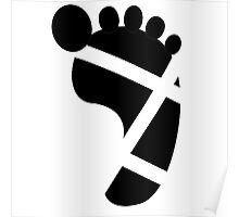 Sandals Foot Tan Line Poster