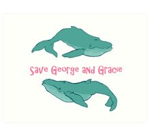 Star Trek: Save George and Gracie Art Print