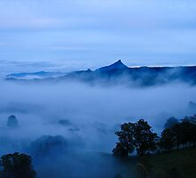 Blue morning in the valley by Pernilla Ahnstrom