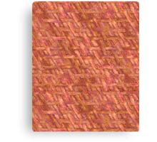 Crispy Tastey Bacon Weave Canvas Print
