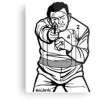 762Ballistic Target - The Thug Metal Print