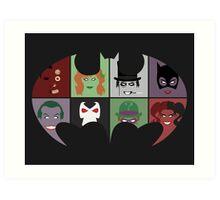 Bat Villains Art Print