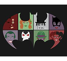 Bat Villains Photographic Print