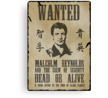 Wanted Captain  Canvas Print