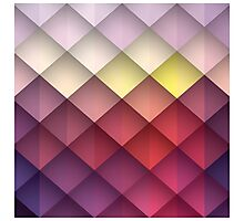 Abstract geometric colorful background, pattern design Photographic Print