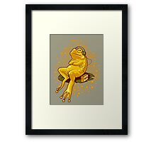 FROGGIE IN RELAX MODE Framed Print