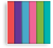 Abstract 3d square background, colorful, geometric Canvas Print