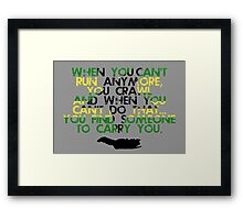 When You Can't Get Up  Framed Print