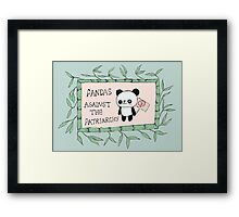 Pandas against the Patriarchy Framed Print
