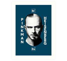 Breaking Bad - Pinkman & Heisenberg Art Print