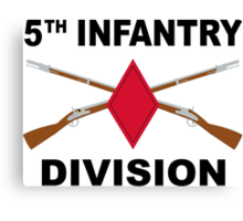 5th Infantry Division - Crossed Rifles Canvas Print