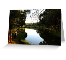 The Quiet Pond II - Royan, France. Greeting Card