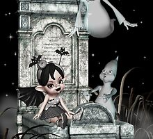 Halloween in the Graveyard by LoneAngel