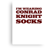 Conrad Knight Socks Canvas Print