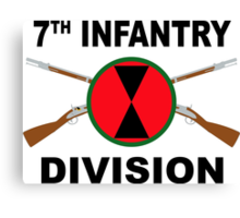 7th Infantry Division - Crossed Rifles Canvas Print
