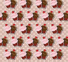 Cup cake background by BlueLela