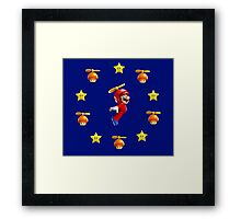 Mario in the sky Framed Print