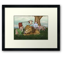 The Hand Knitted Peaceable Kingdom  Framed Print