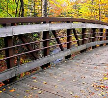 Fall in New Hampshire: Wooden Bridge by christazuber
