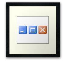 Minimize Maximize Close Computer Internet Framed Print