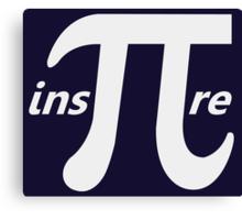 Inspire Inspirational Pi Symbol Canvas Print