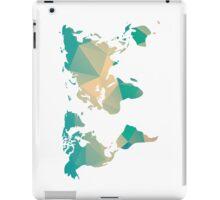 World map in geometric triangle pattern design iPad Case/Skin
