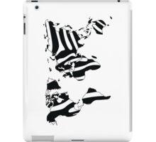World map in animal print design, zebra pattern iPad Case/Skin