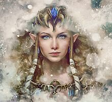 Epic Princess Zelda Painting Portrait by barrettbiggers