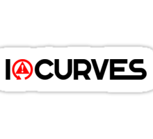 I love curves (1) Sticker