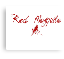 Red Mosquito Metal Print