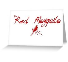 Red Mosquito Greeting Card