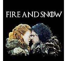 Fire and Snow  Photographic Print