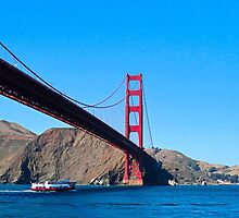 Golden Gate from Boat by Robert Meyers-Lussier