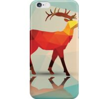 Geometric polygonal deer, pattern design iPhone Case/Skin