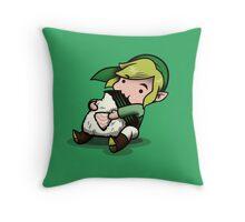 Power, Courage, Wisdom-nom-nom Throw Pillow