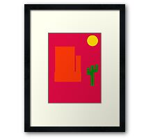 Take A Trip Out West Framed Print
