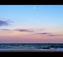 Where the Moon Meets the Ocean by ameils24