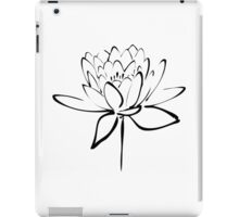 Lotus Flower Calligraphy (Black) iPad Case/Skin