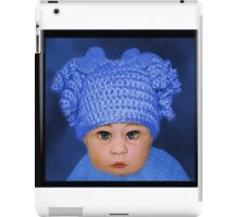 ADORABLE BABY BLUE CHILDRENS PILLOWS AND OR TOTE BAG iPad Case/Skin