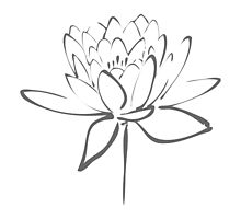 Lotus Flower Calligraphy (Smoke Grey) by Makanahele