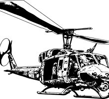 UH-1N Twin Huey by deathdagger